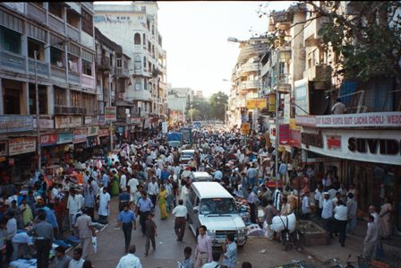 Traffic and crowds in India
